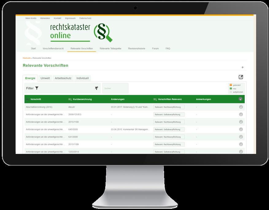 Rechtskataster-Online ist ein Compliance-Tool für Arbeitsschutz-, Umwelt- und Energiemanagementsysteme